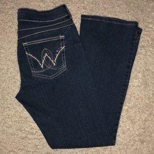 Wrangler Pink Bling Denim Jeans Size 13 / 14 x 32